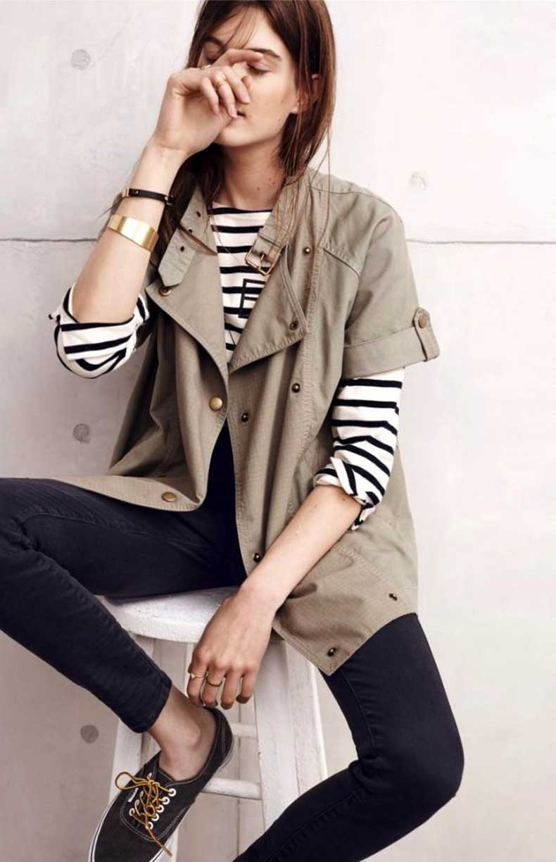 Le-Fashion-Blog-Simple-Sunday-Weekend-Casual-Style-Jacket-Striped-Tee-Sneakers