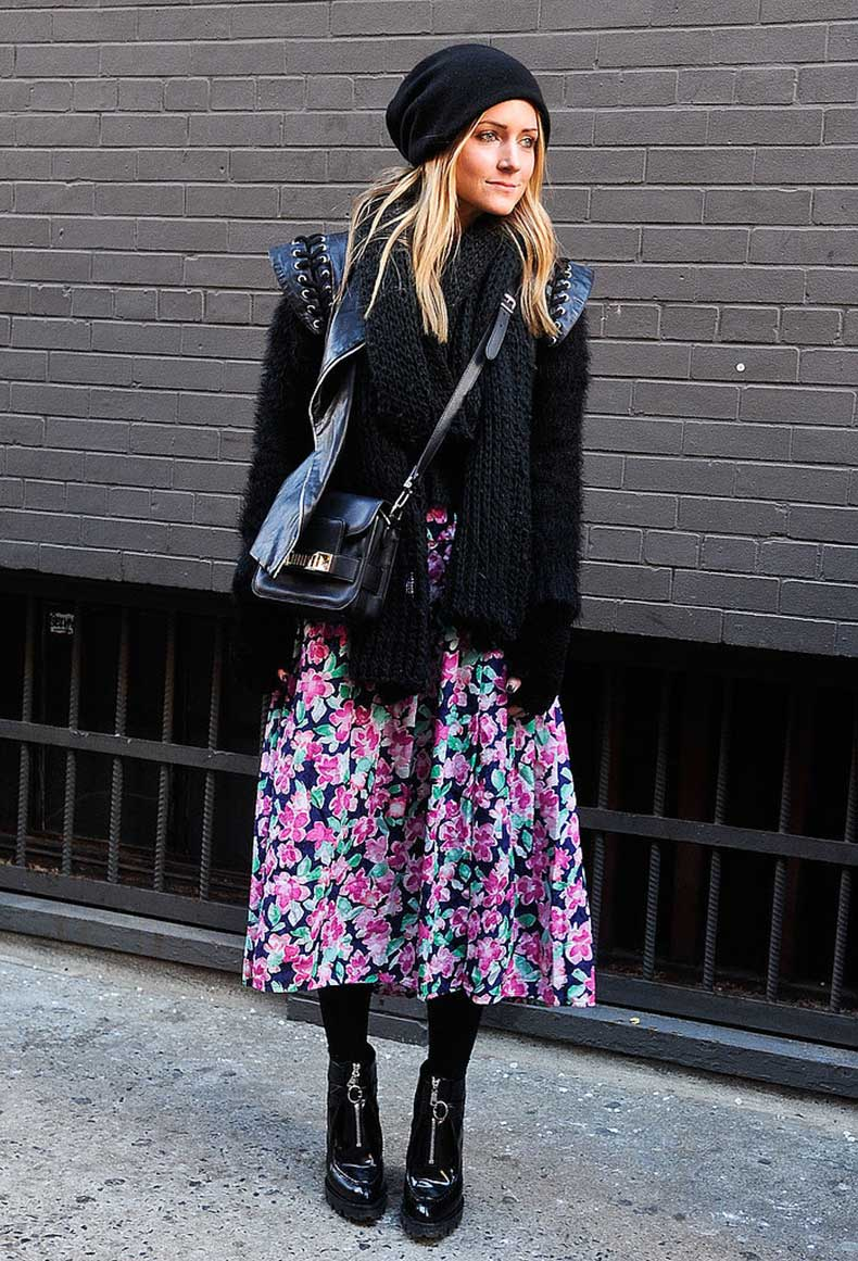 Style-Feminine-Full-Skirt-Winter