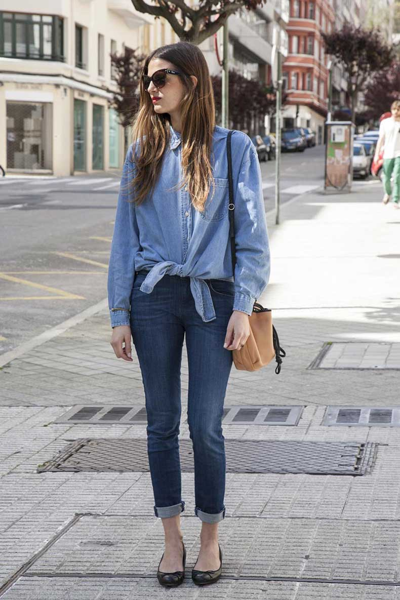 Two-toned-denim-outfit