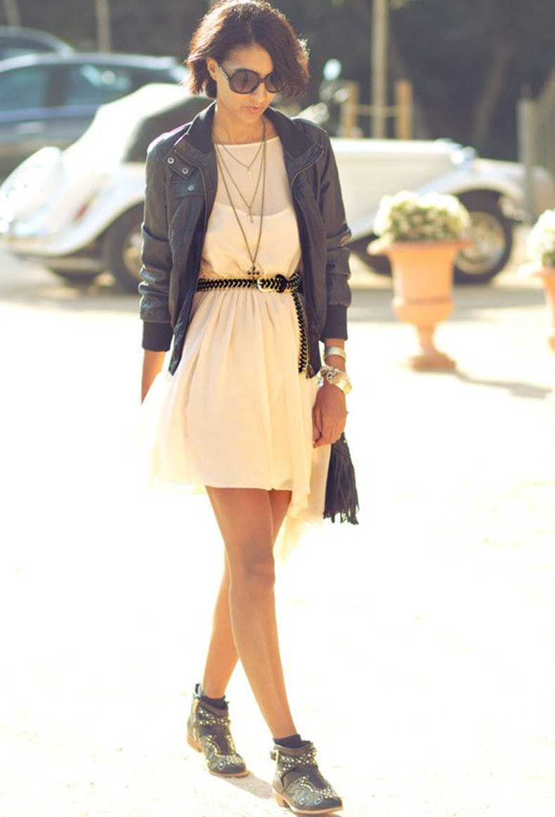 short-dress-and-ankle-boots