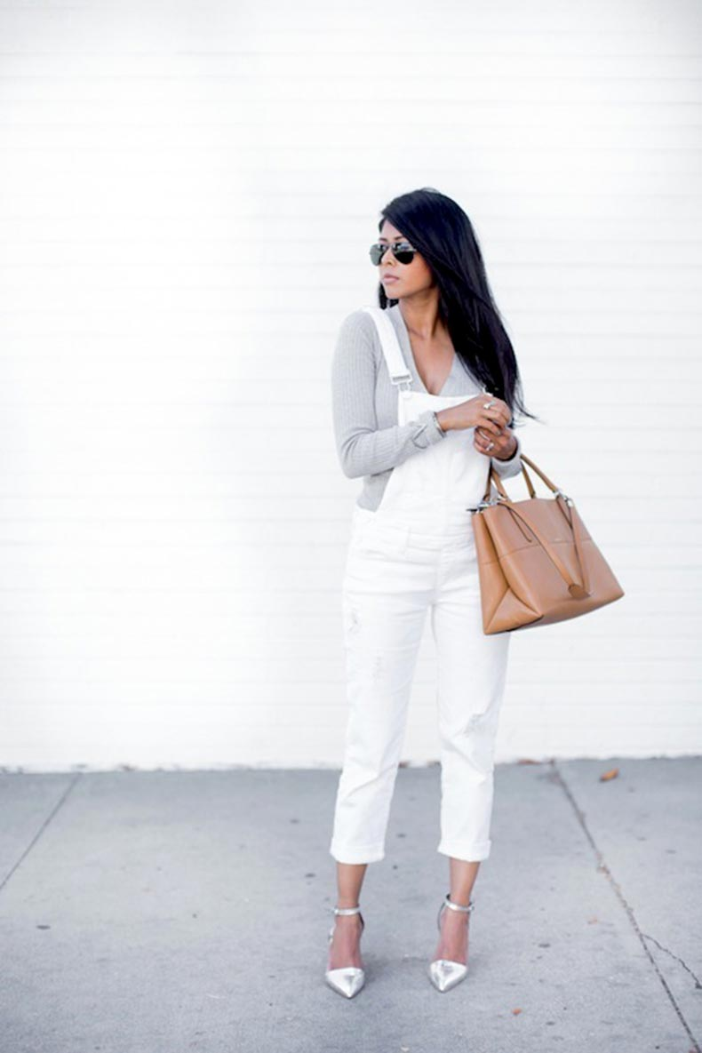 9-Le-Fashion-Blog-17-Ways-To-Wear-White-Overalls-Grey-Tee-Nude-Bag-Silver-Heels-Via-Blogger-Walk-In-Wonderland