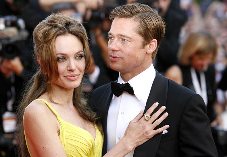 Angelina-Jolie-wore-bright-shade-yellow-accompanied-Brad