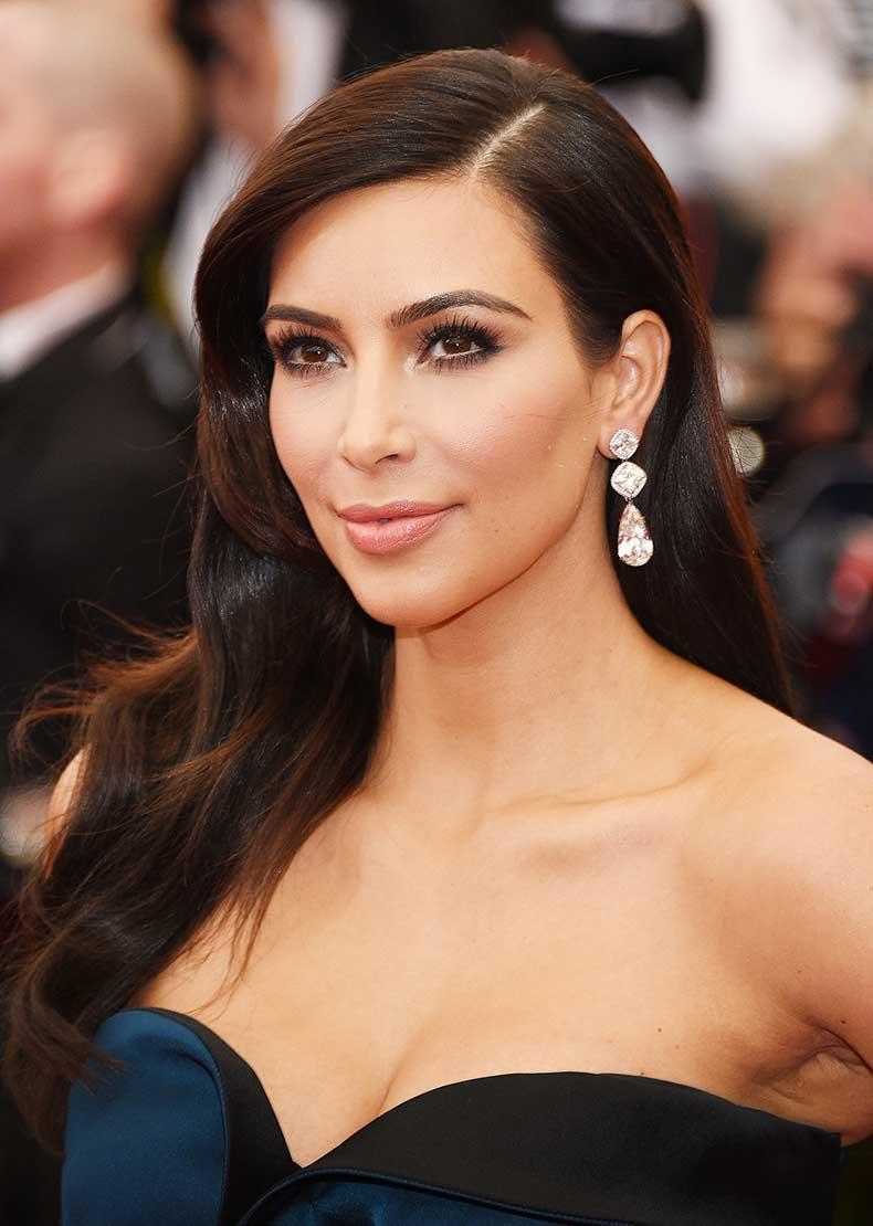 Kim-Kardashian-Groomed-Brows-Lashes