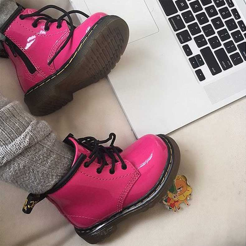 North-Received-Pink-Patent-Leather-Dr-Martens-Boots-Valentine-Day