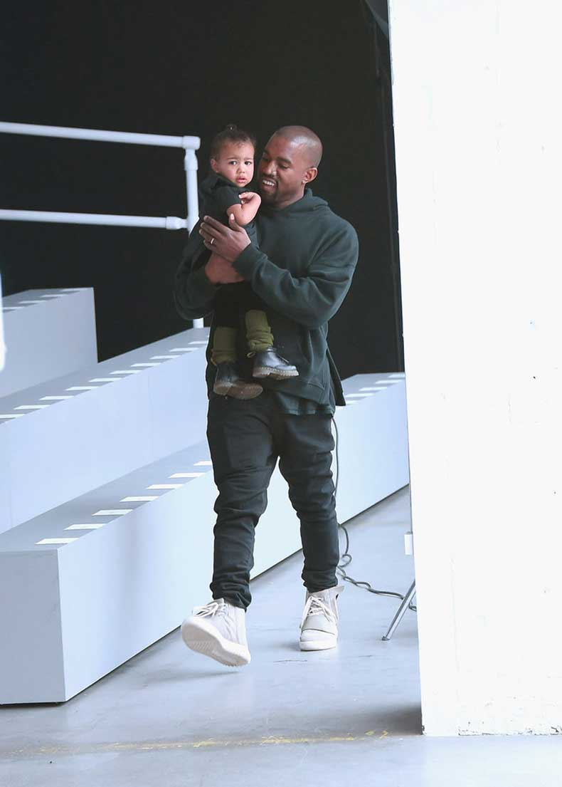 North-Wore-Her-Black-Dr-Martens-Boots-Kanye-Fashion-Show