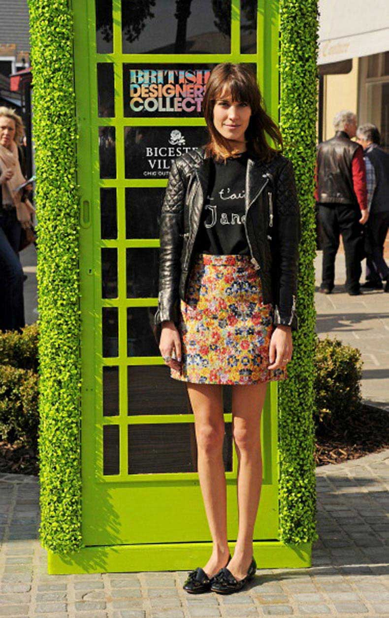 alexa-chung-2012-black-patent-loafer-flats-floral-print-skirt-j-t-aime-shirt-black-leather-motorcycle-jacket