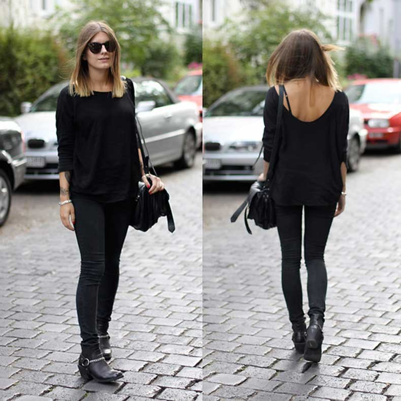 total-black-dress-street-style