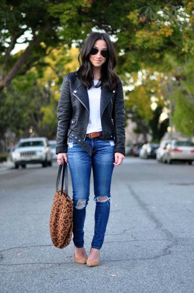 white-shirt-with-leather-jacket