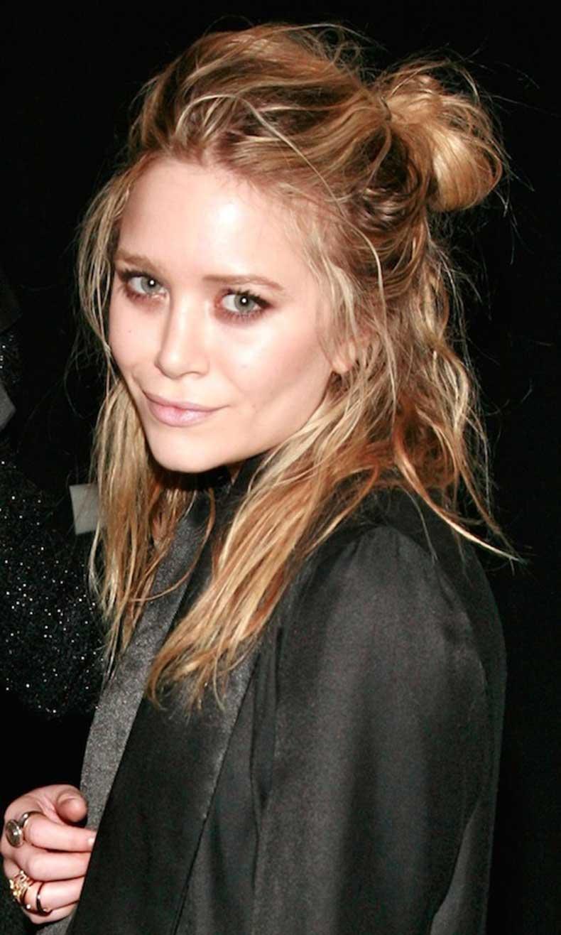 17-Le-Fashion-Blog-20-Inspiring-Half-Up-Top-Knot-Hairstyles-Celebrity-Mary-Kate-Olsen-Wavy-Textured-Hair-Bun