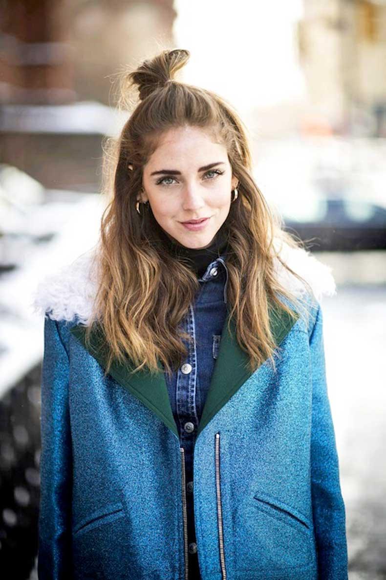 3-Le-Fashion-Blog-20-Inspiring-Half-Up-Top-Knot-Hairstyles-Chiara-Ferragni-The-Blonde-Salade-Hair-Bun-Via-Cosmopolitan