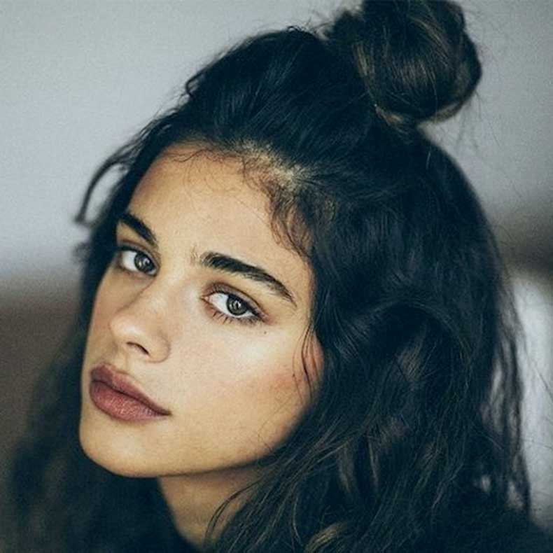 9-Le-Fashion-Blog-20-Inspiring-Half-Up-Top-Knot-Hairstyles-Dark-Brown-Hair-Bun-Dajana-Rads-Via-Highsnobiety