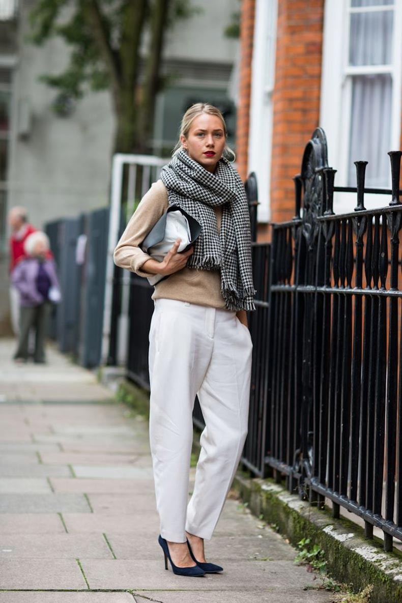 Classiq-Chunky-houndstooth-scarf-London-street-style