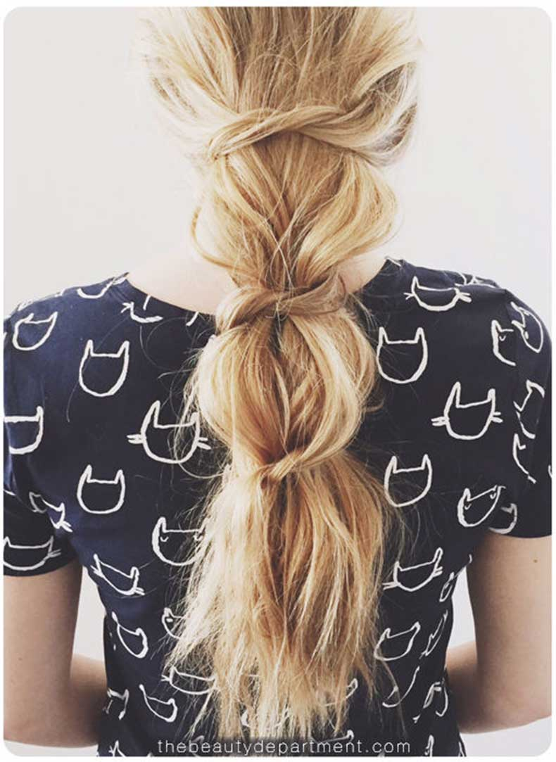 Messy-Knotted-Ponytail-the-beauty-department-