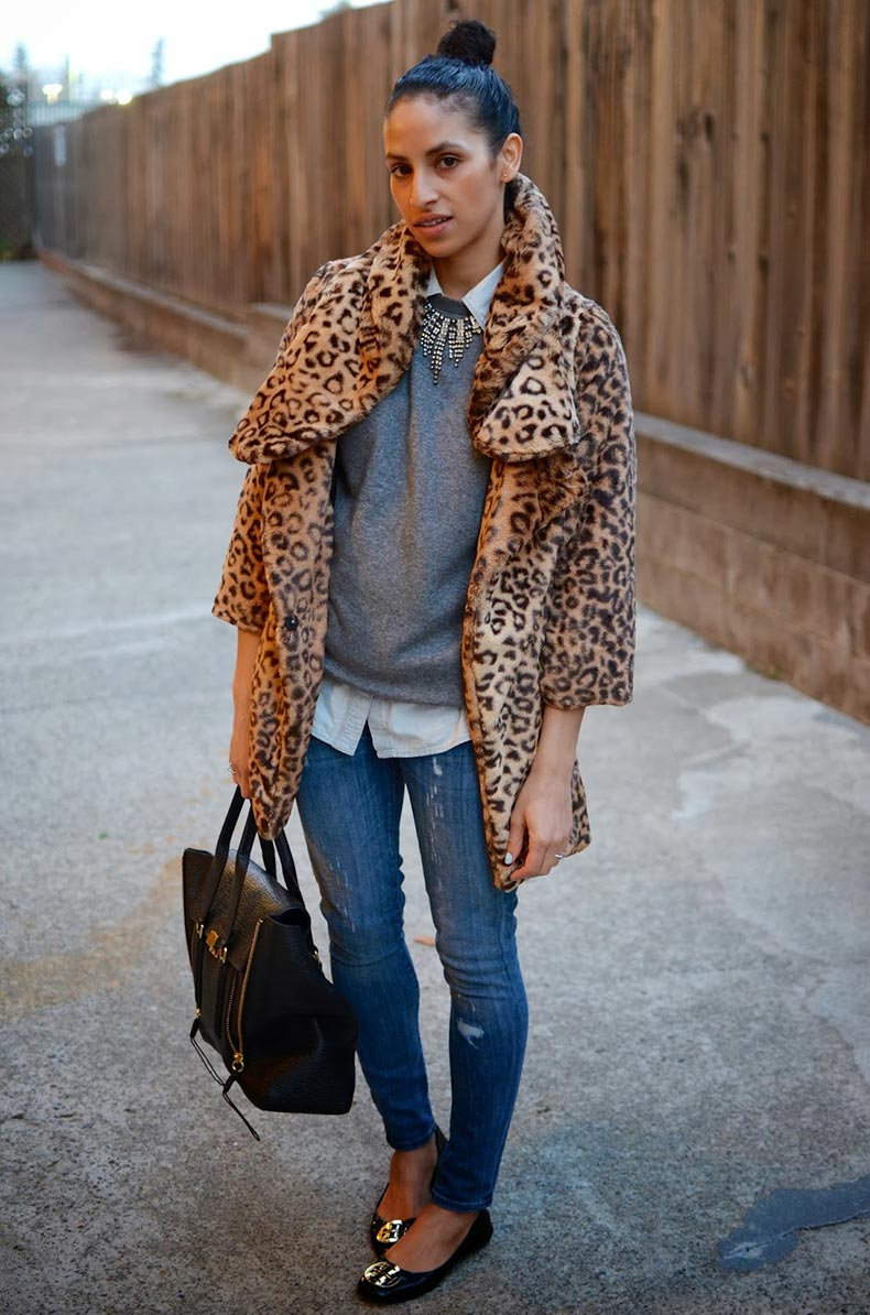 San-Francisco-Style-Blog--street-style,-leopard-fur-coat,-J.-Crew-skinny-denim,-Phillip-Lim-Pashli
