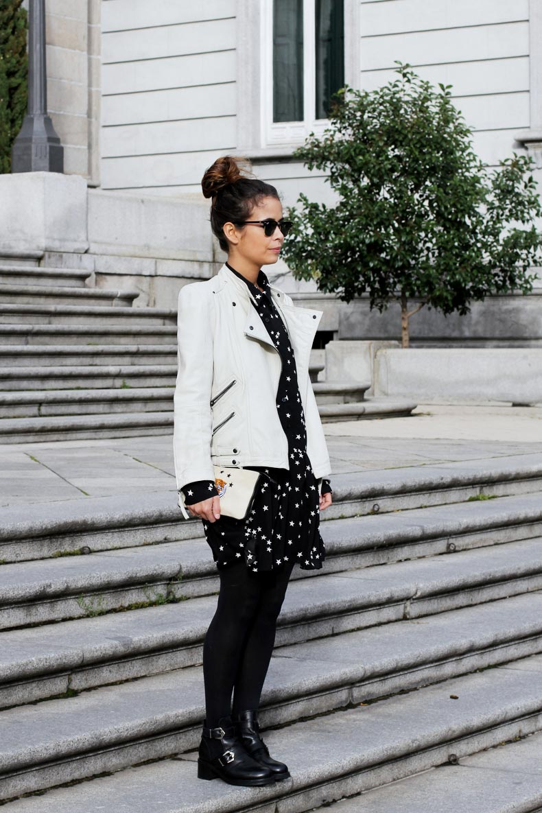 Stars_Dress-Biker_Jacket-White-Outfit-Arabel_Boots-Street_Style-