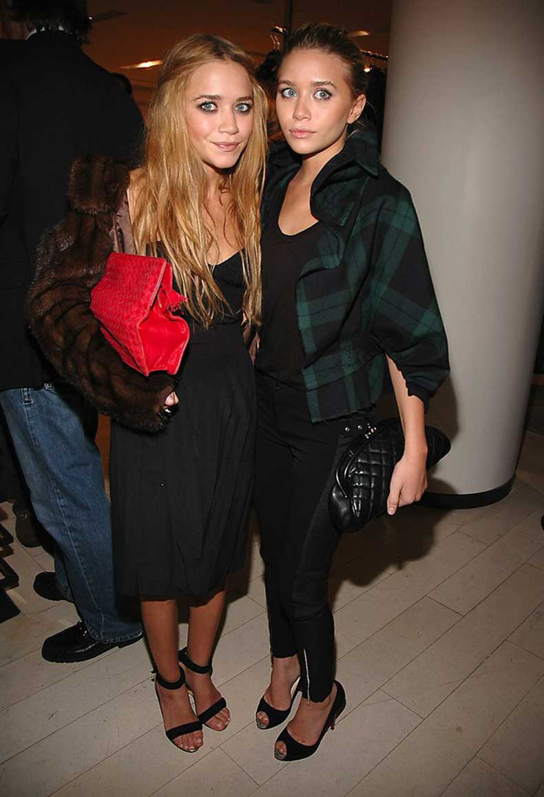 Twinning-combo-Balenciaga-2006-Paris-launch-girls-styled