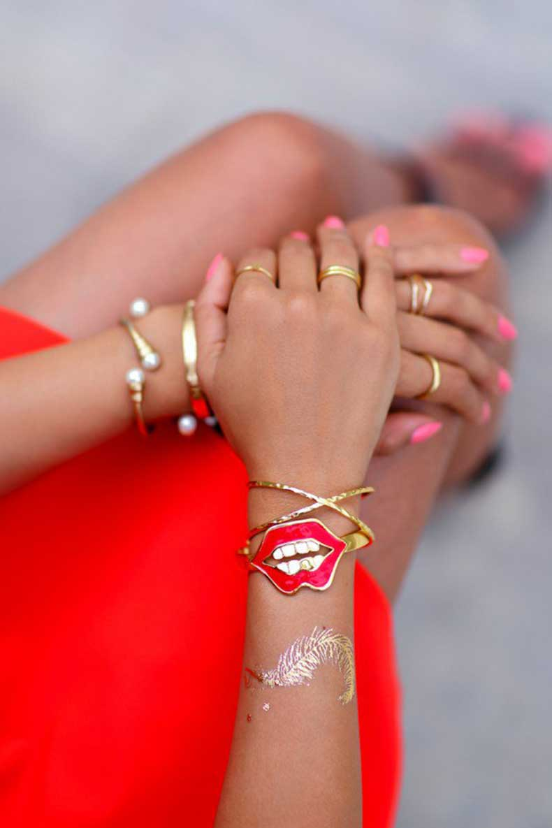 You-Wear-Metallic-Temporary-Tattoos-Collection-For-Girls