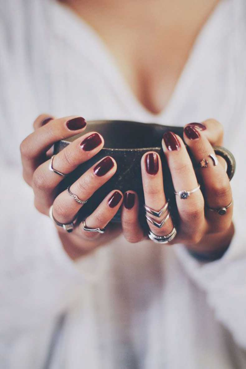 dark-red-nails