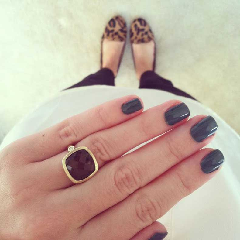 muted-green-nails-+-stone-ring