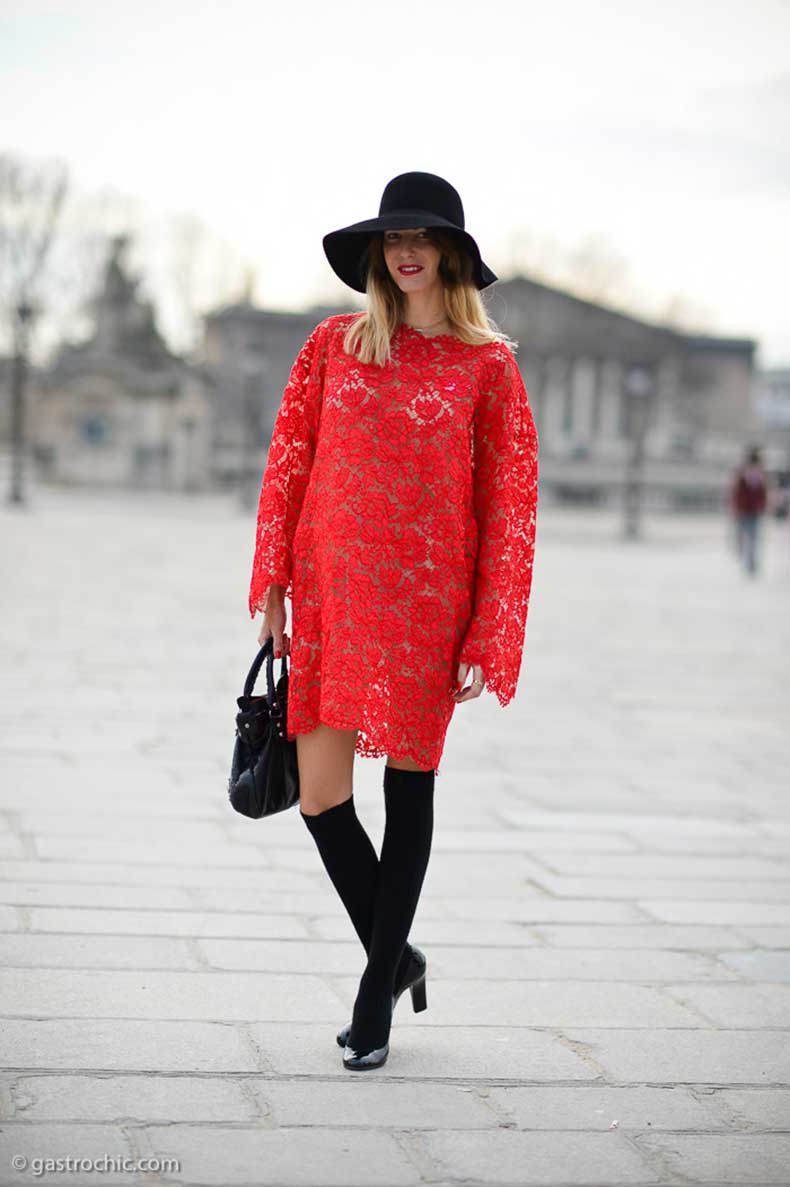 red-lace-dress-outside-valentino