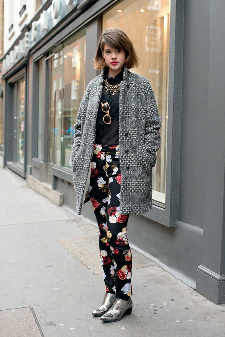 Floral-pants-took-cocoon-coat-more-playful-place