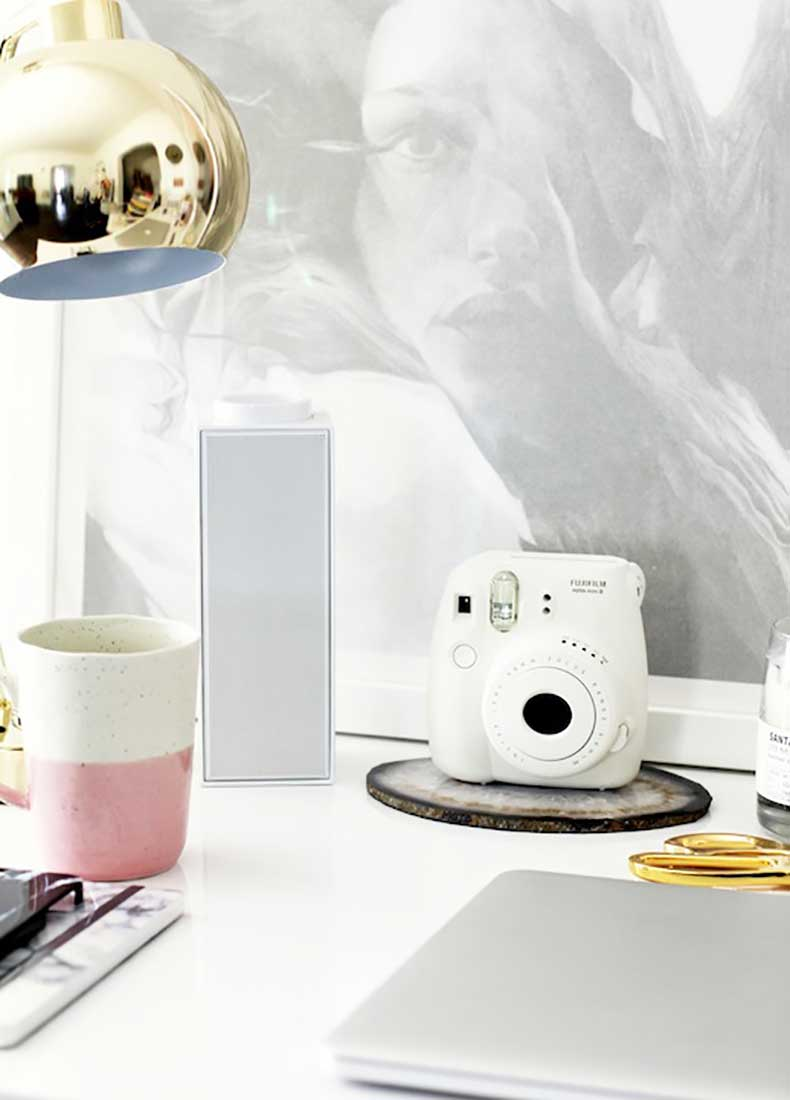 Le-Fashion-Blog-Stylish-Whimsical-Work-Space-Urban-Outfitters-Tech-Accessories-White-Fujimax-Instant-Camera-Wireless-Bluetooth-Speaker-Home-Decor