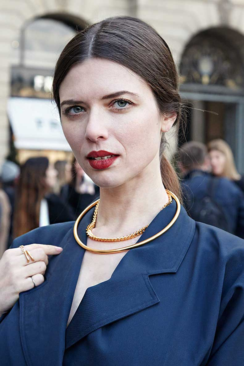 Paris-Fashion-week-AW14-street-style-adorn-jewellery-blog-gold-choker