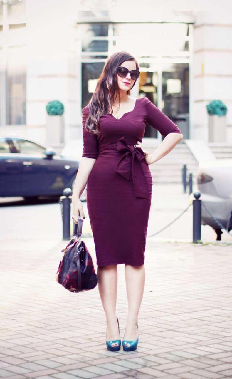 cinched-waist-wrap-dress