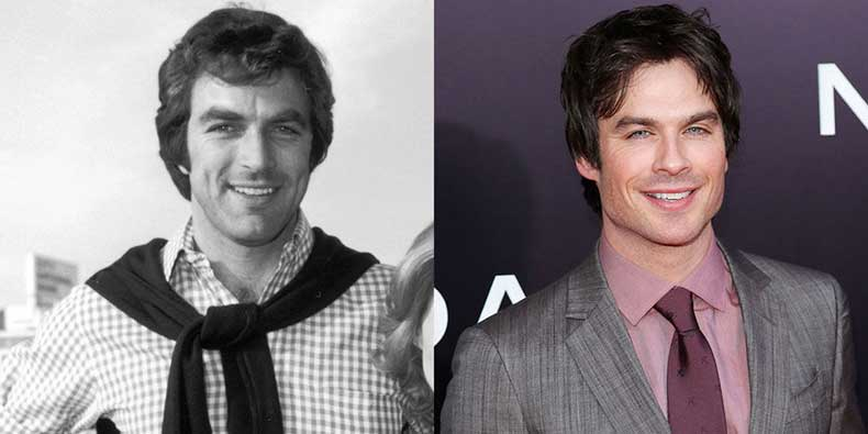 elle-celebrity-doppelgangers-selleck-somerhalder