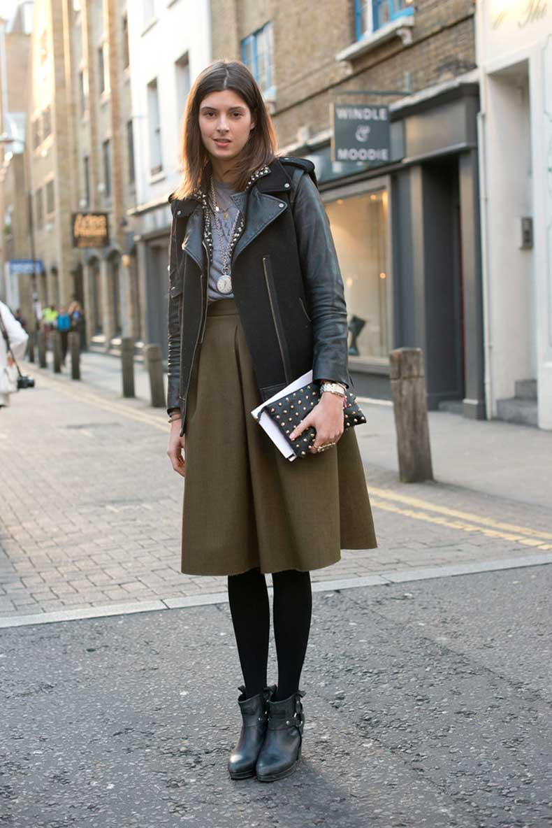 girlie-skirt-got-tougher-edge-leather-jacket-harness