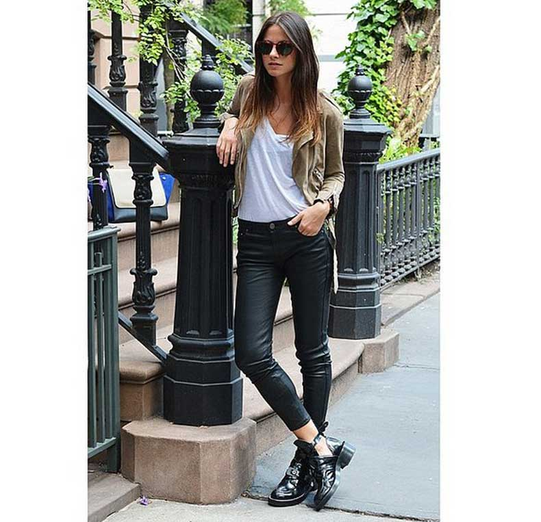 Biker-Chic-Boots-Slick-Denim