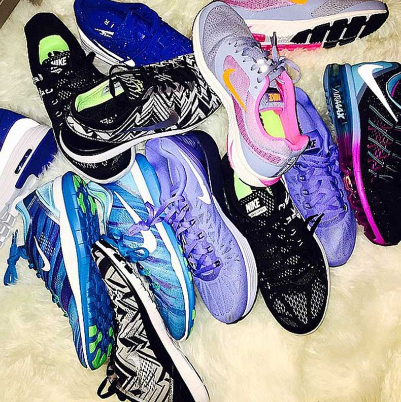 Khloé-Kardashian-huge-sneaker-collection-big-fitness-motivator
