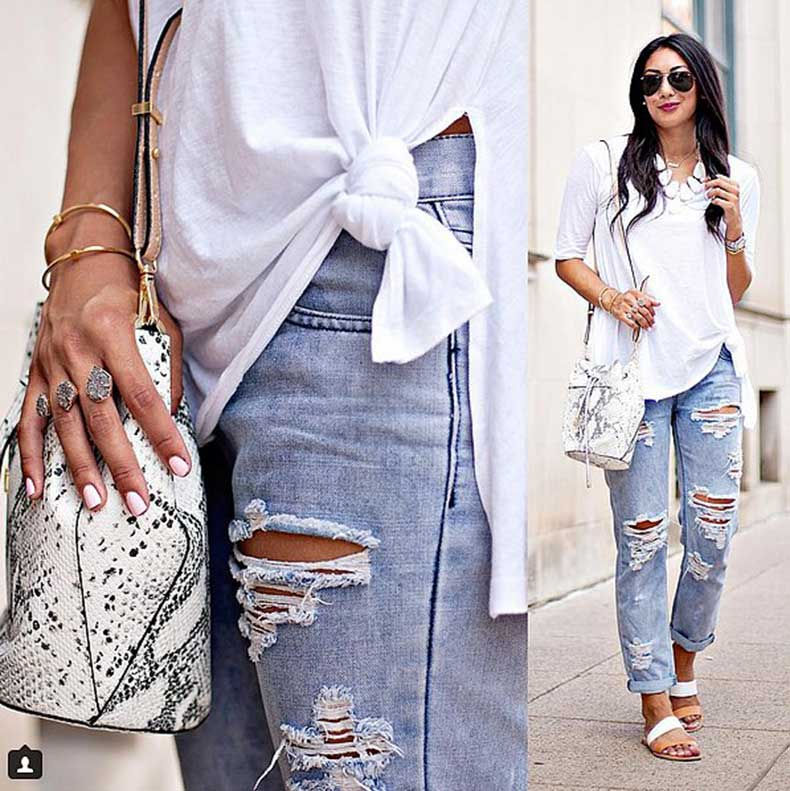 Layered-Chunky-Jewelry-Ripped-Jeans