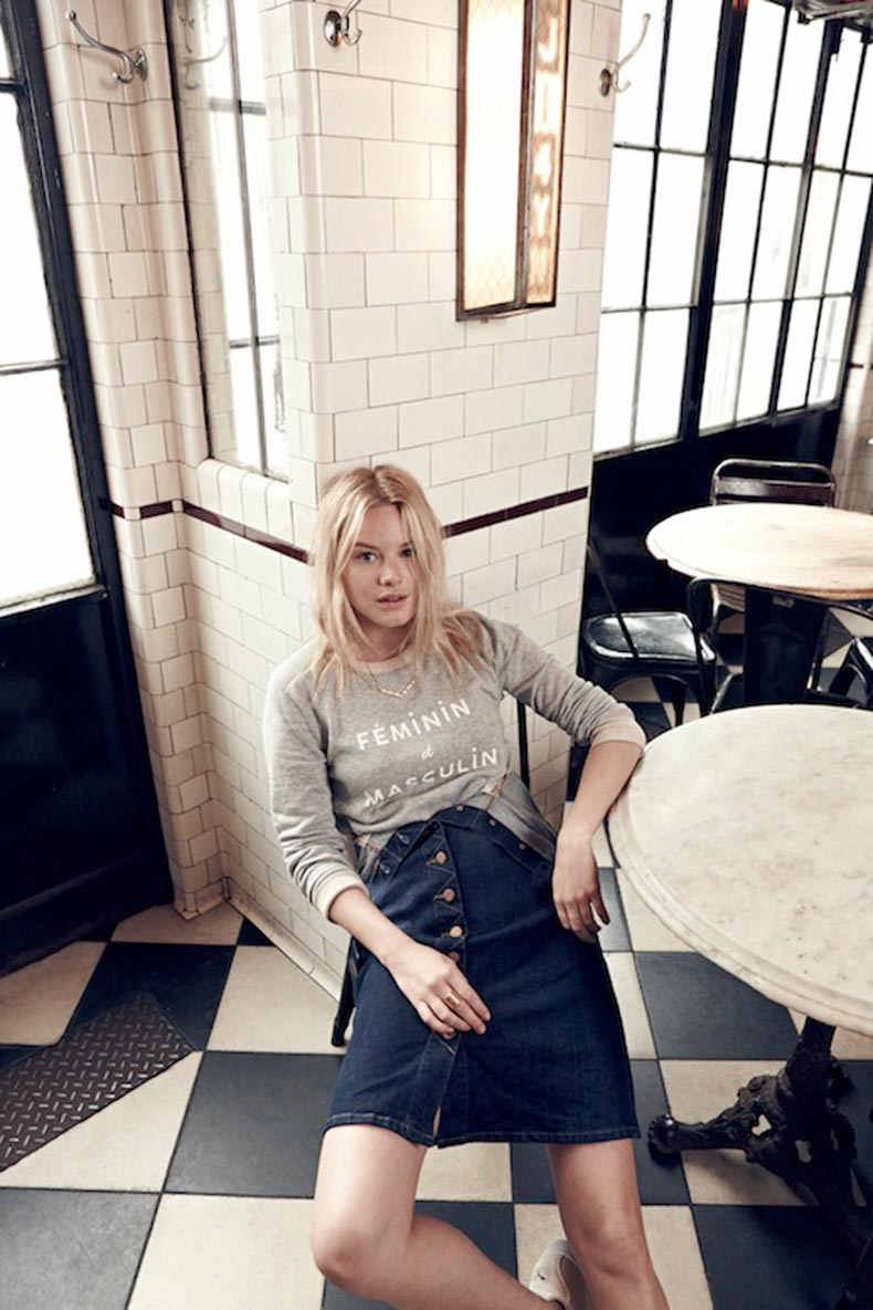 Le-Fashion-Blog-Madewell-Sezane-Lookbook-Camille-Rowe-Graphic-Sweatshirt-Feminin-Et-Masculine-Denim-Overall-Dress