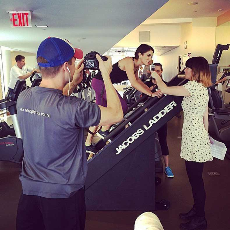 Nikki-Reed-taped-interview-while-working-out