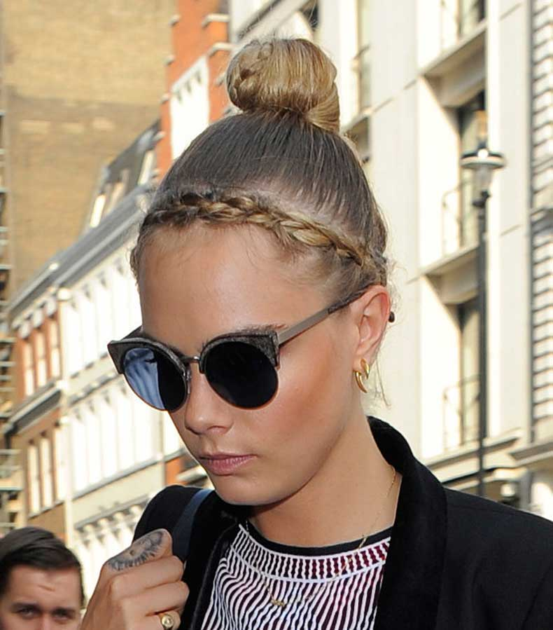 Pictures-Cara-Delevingne-Hair-Braid-Bun