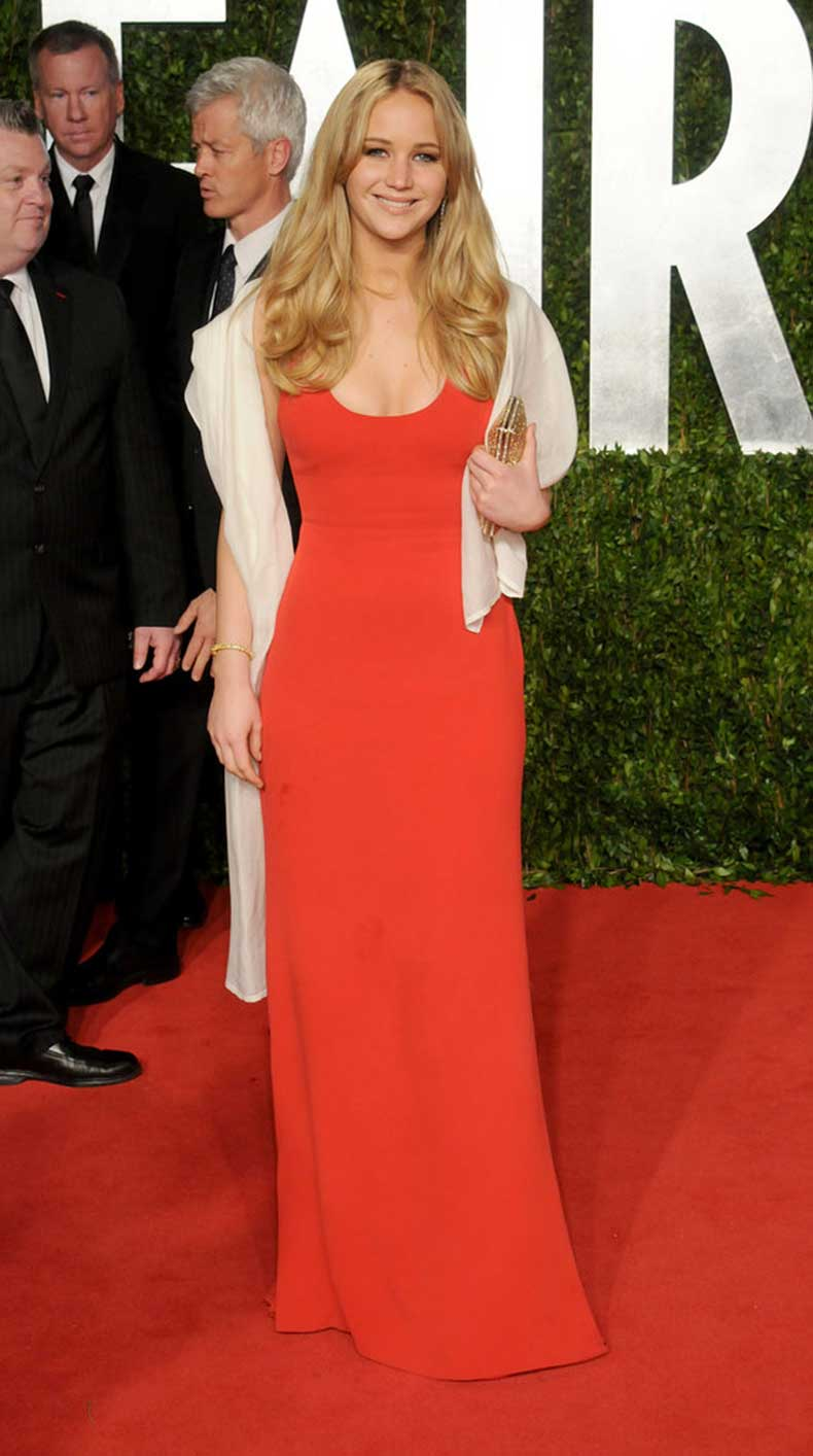 Sometimes-simplest-gown-can-chicest-shown-red