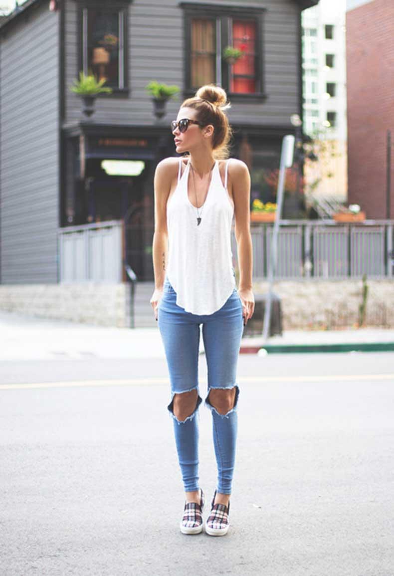 Jeans Rotos En Las Rodillas Por Que Nos Obsesionan Tanto Cut Paste Blog De Moda