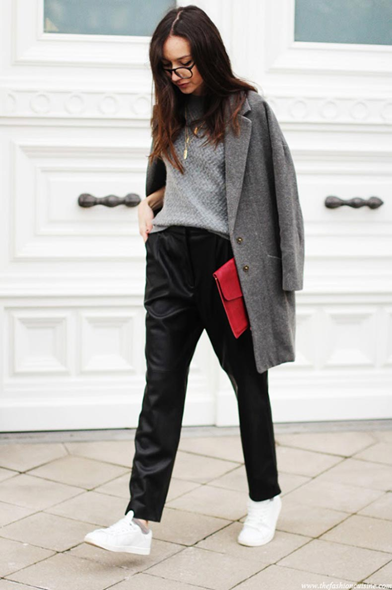mango-grey-coat-angora-sweater-white-sneakers-leather-trousers-street-style-outfit-thefashioncuisine1