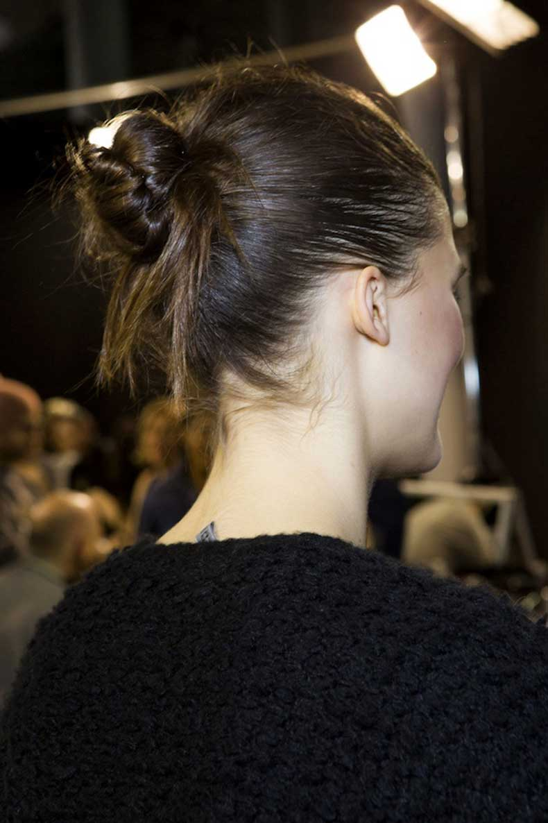 6-Le-Fashion-Blog-Backstage-Beauty-Hair-Inspiration-Twisted-Messy-Buns-Isabel-Marant-FW-2015-Brown-Hair-Up-Do-Top-Knot