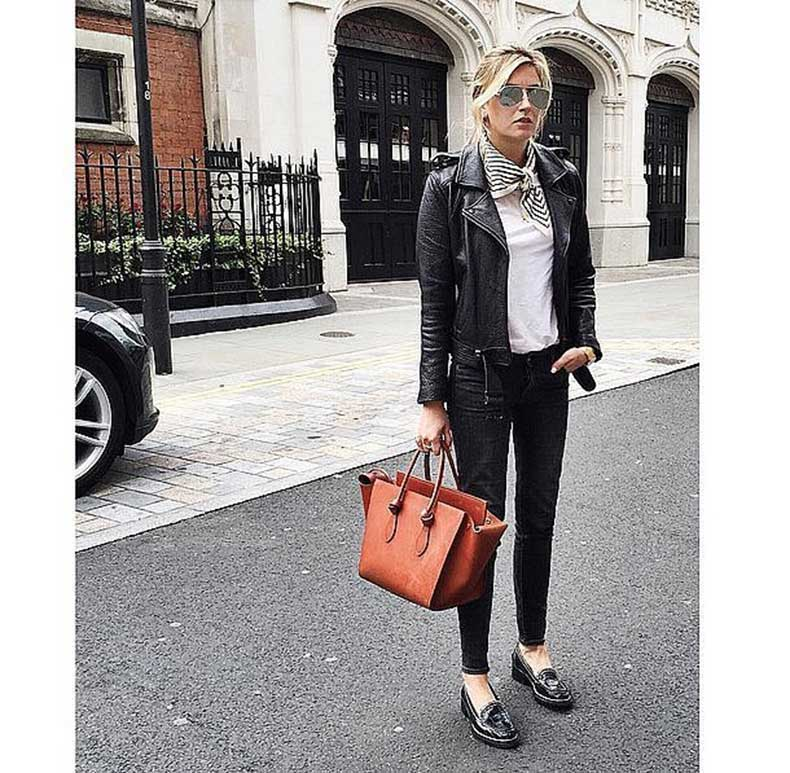 Black-Jeans-Loafers-White-Tee-Leather-Jacket