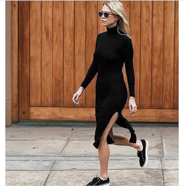Black-Turtleneck-Dress-Black-Sneakers