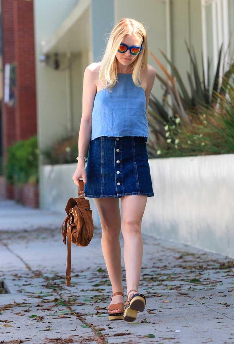 Button-Front-Miniskirt