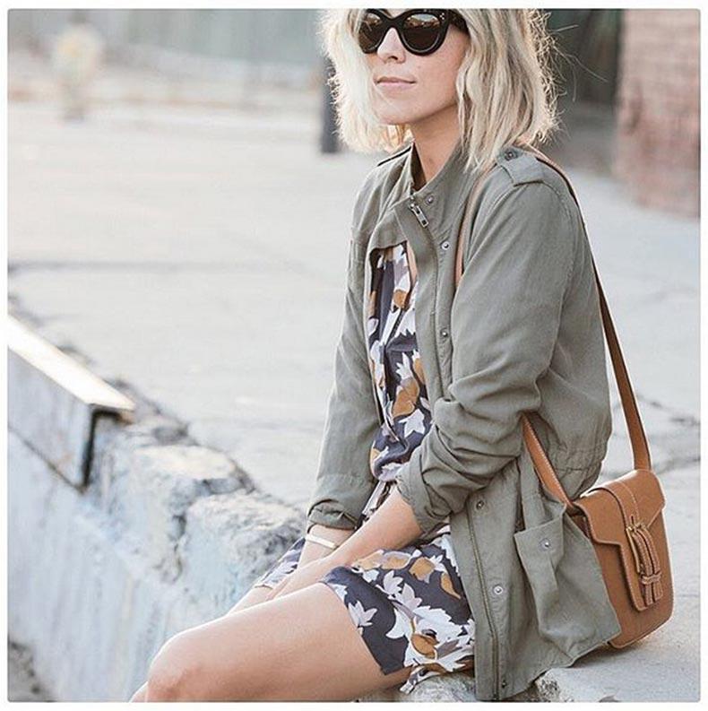 Contrasted-Floral-Dress