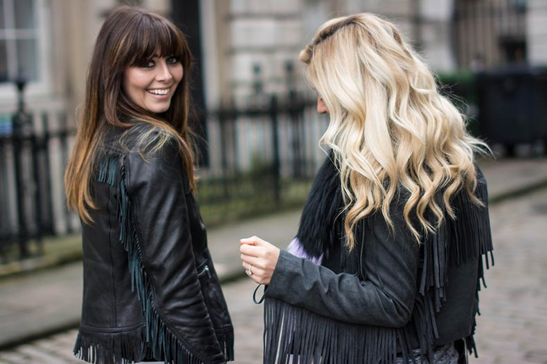 EJSTYLE-Emma-Hill-London-Fashion-Week-AW15-LFW-FW15-Claire-Bedford-chouquette-Street-style-LFW-Karen-millen-fringe-leather-jacket-HM-fringe-jacket-fringe-trend