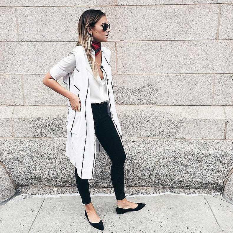 Jeans-Button-Down-Duster-Vest