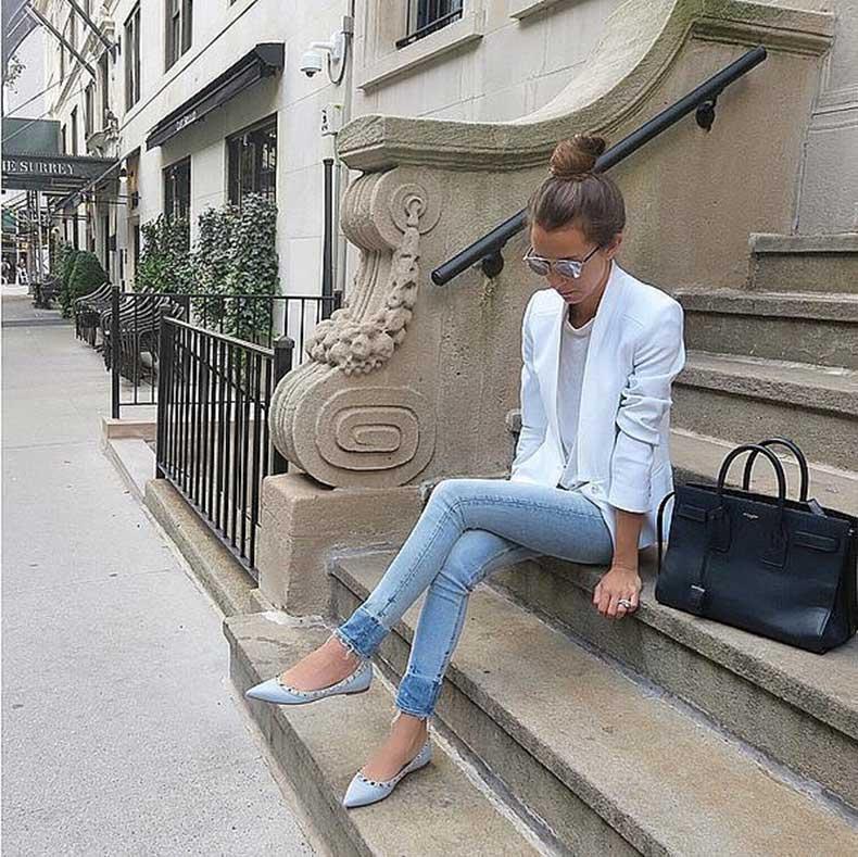 Jeans-White-Blazer-White-Tee-Flats