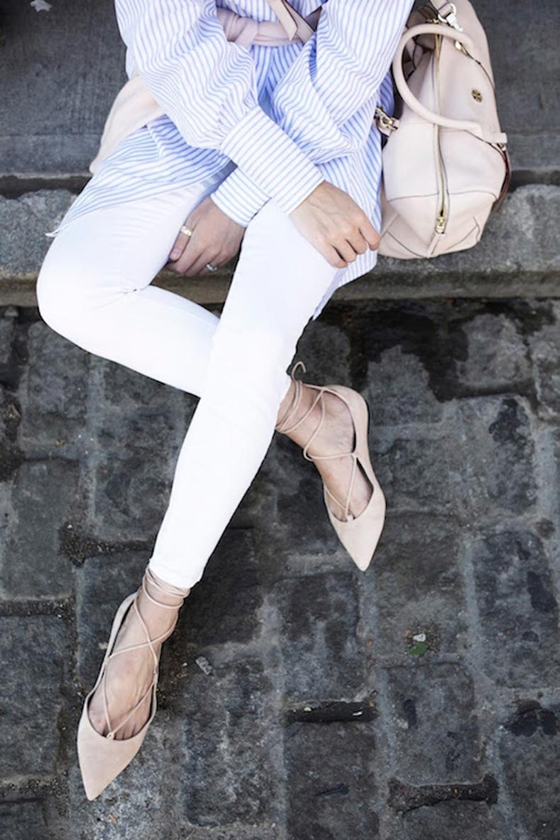 Le-Fashion-Blog-25-Ways-To-Wear-A-Striped-Button-Down-Shirt-Lace-Up-Pointed-Flats-White-Jeans-Via-Atlantic-Pacific