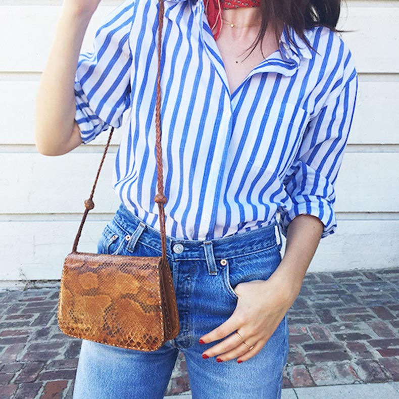 Le-Fashion-Blog-25-Ways-To-Wear-A-Striped-Button-Down-Shirt-Python-Crossbody-Bag-Alina-Gonzalez-Via-The-Hyperbalist