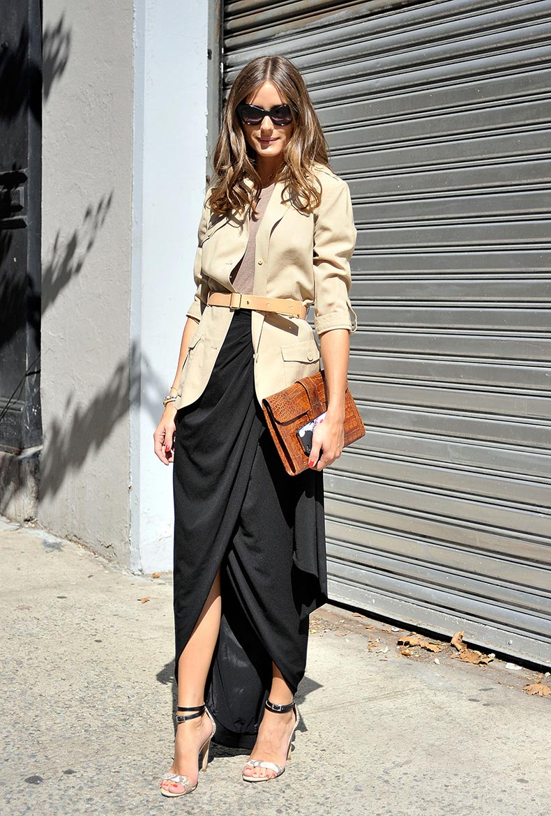Olivia-Palermo-perfected-easy-Fall-elegance-draped-maxi-skirt
